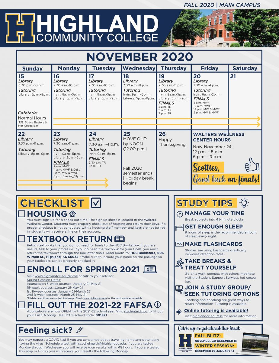 Campus Finals Flyer Fall 2020