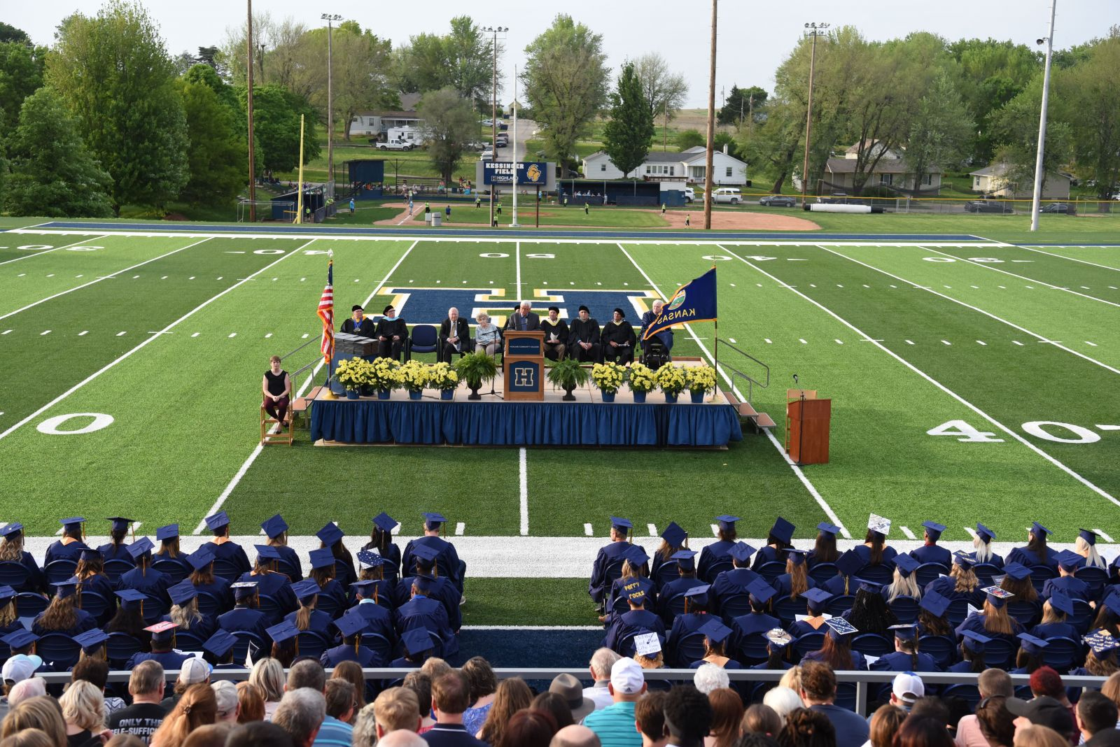 Commencement Speaker John Lehman stressed the importance of goals to graduates.