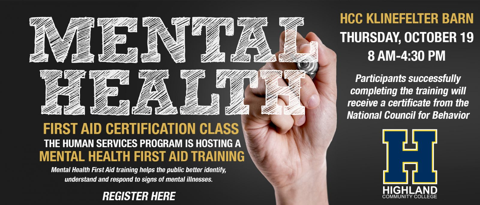 Mental Health First Aid Training Highland Community College My Hcc
