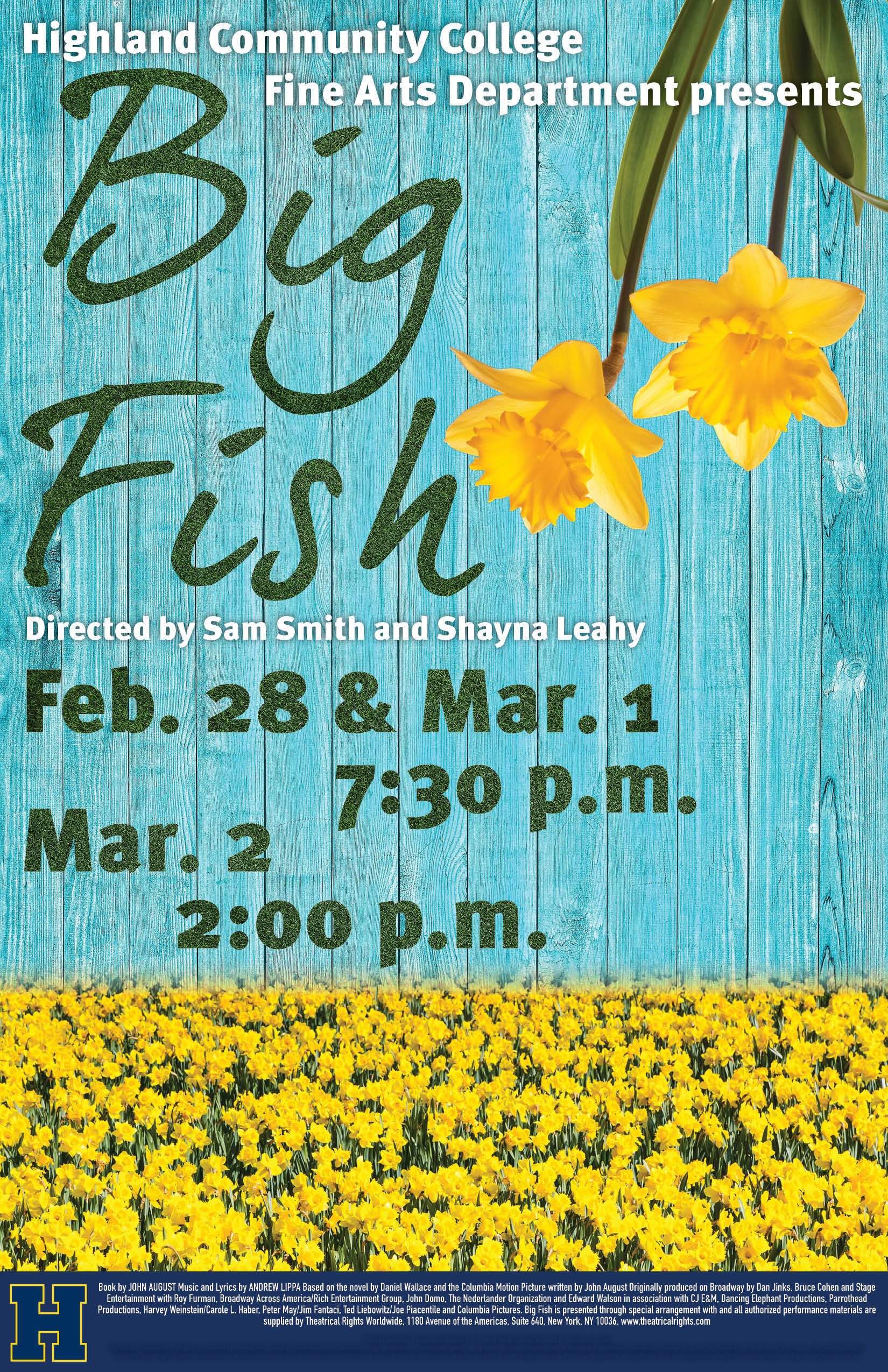Highland Community College Fine Arts Department Presents Big Fish Opening February 28