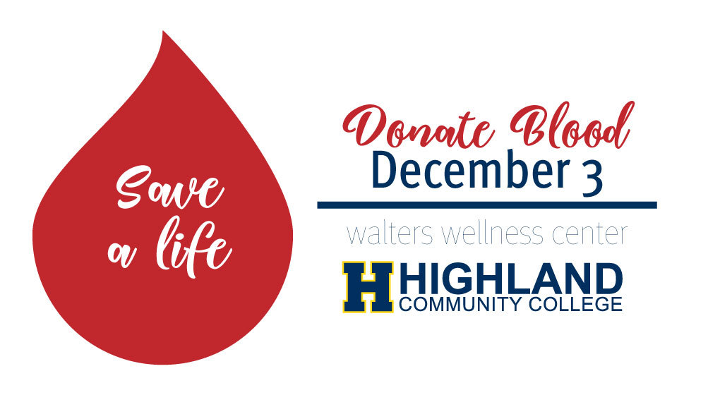 Highland Community College Student Government Association Hosts Blood Drive December 3