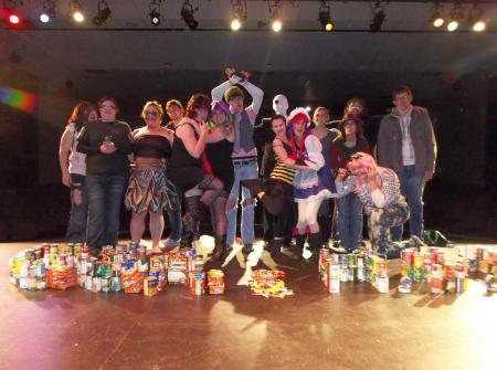 HCC Donates Food from Halloween Drive