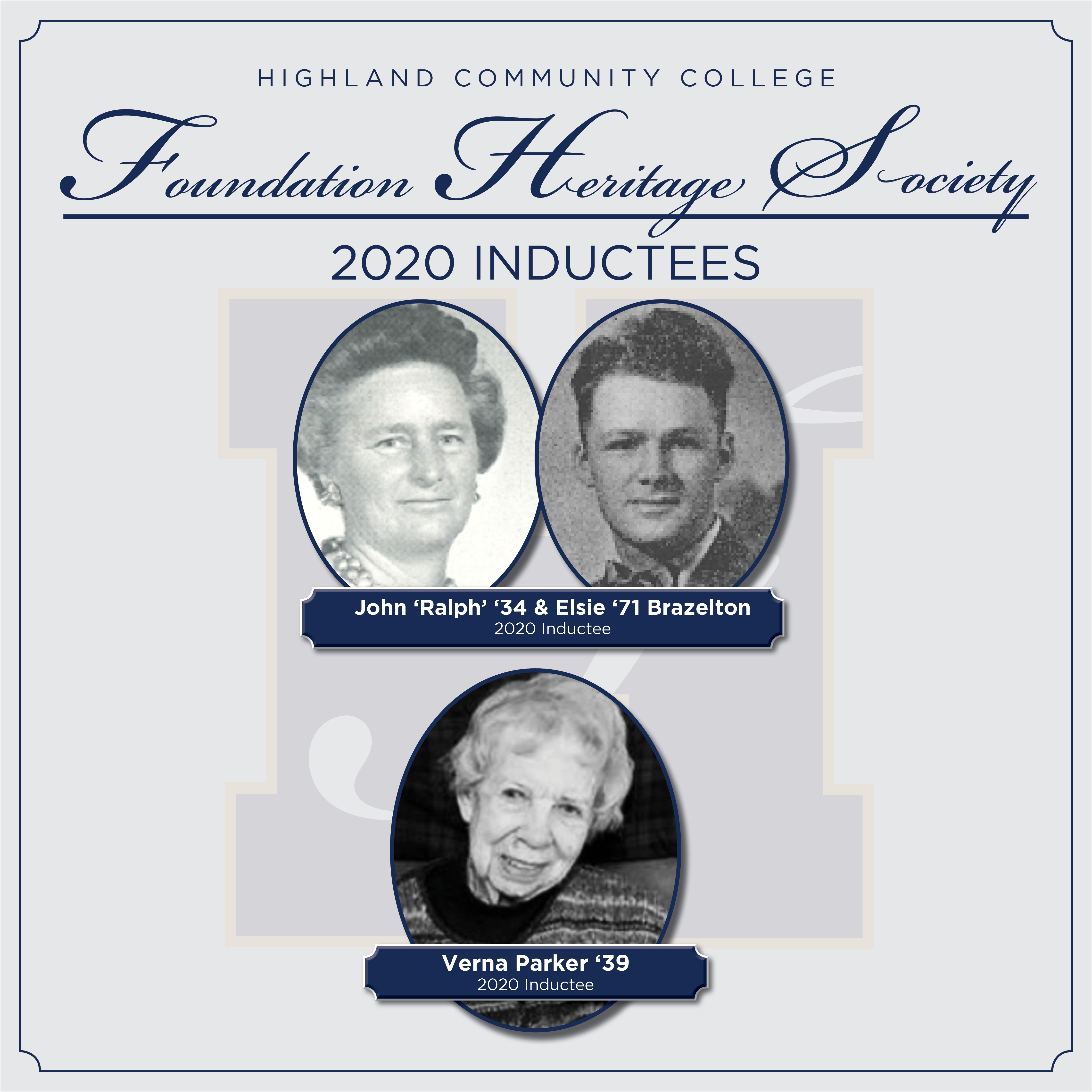 The Highland Community College Foundation's Heritage Society Welcomes New Members