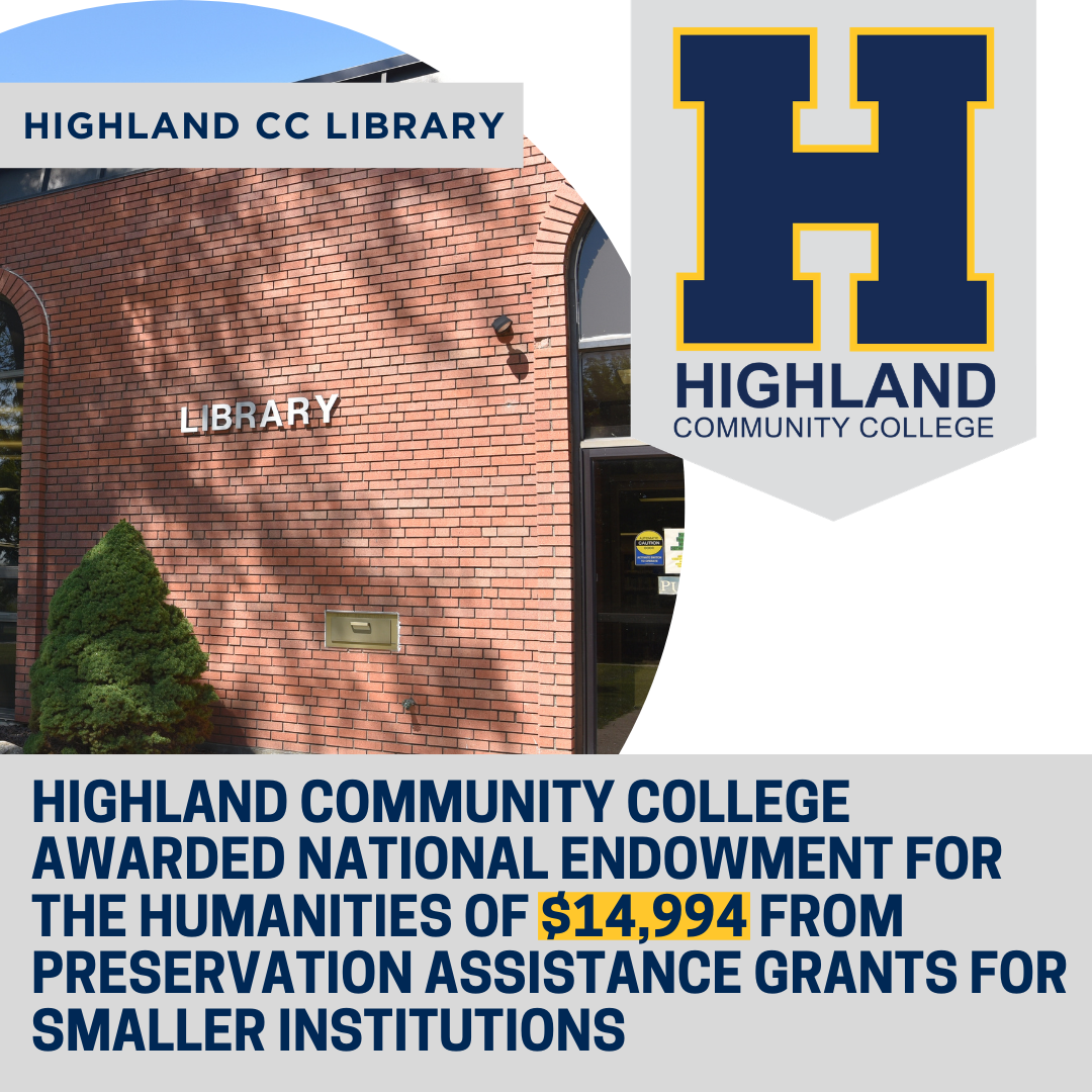 The HCC Library has been awarded a National Endowment for the Humanities grant titled Preservation Assistance Grants for Smaller Institutions.