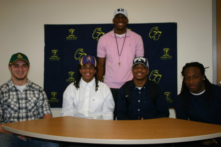 Highland Football Players Sign National Letters
