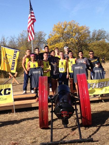 Highland Men's Cross Country Records Fall at Fort Hays