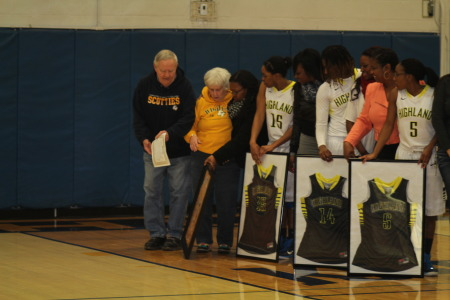 Rupes Honored by Highland Women's Basketball
