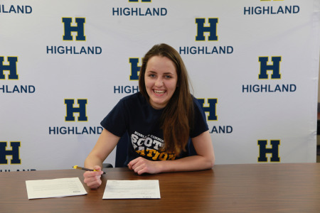 Highland Volleyball Player Signs with Delaware State