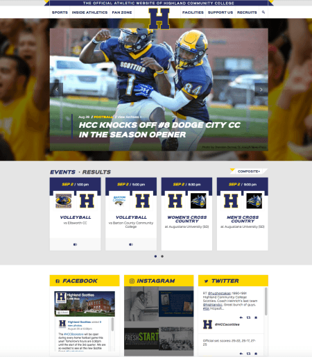 Highland Launches Athletic Website