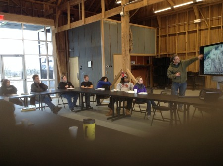 Highland Sustainability Class Meets at Klinefelter Barn