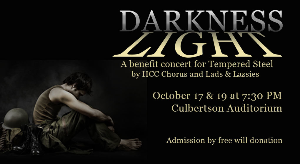 "Highland Community College Announces Fall Vocal Concert, ""Darkness/Light"" October 17 and 19 with Tempered Steel"