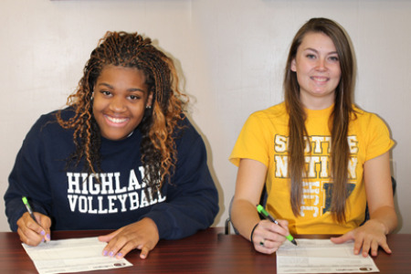 Two from Highland Volleyball Sign NLI's